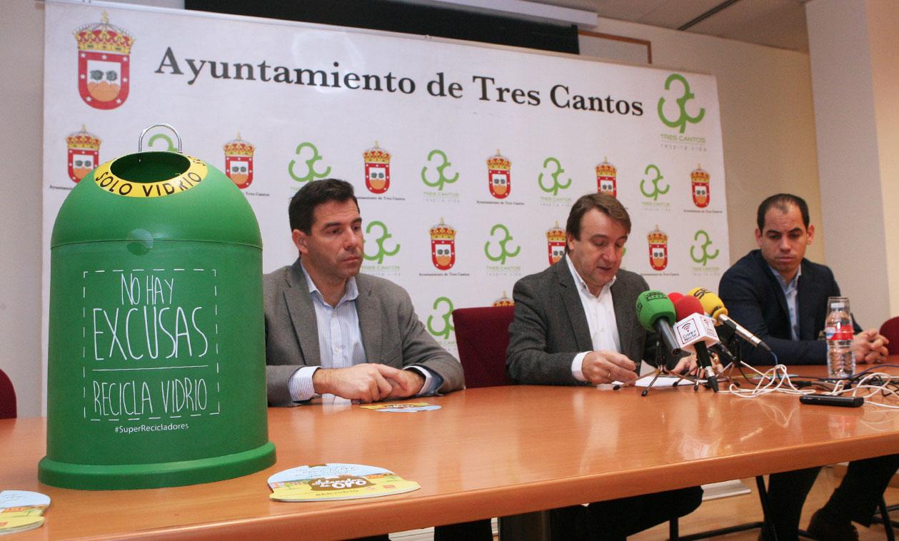Tres Cantos compite con 16 municipios de la Comunidad de Madrid para conseguir el 'Contenedor de Oro'