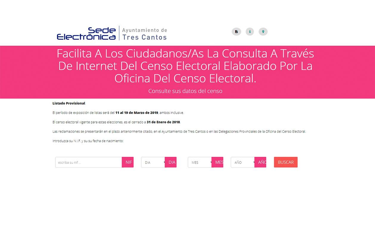 Los tricantinos pueden consultar las listas del censo electoral en la web del Ayuntamiento