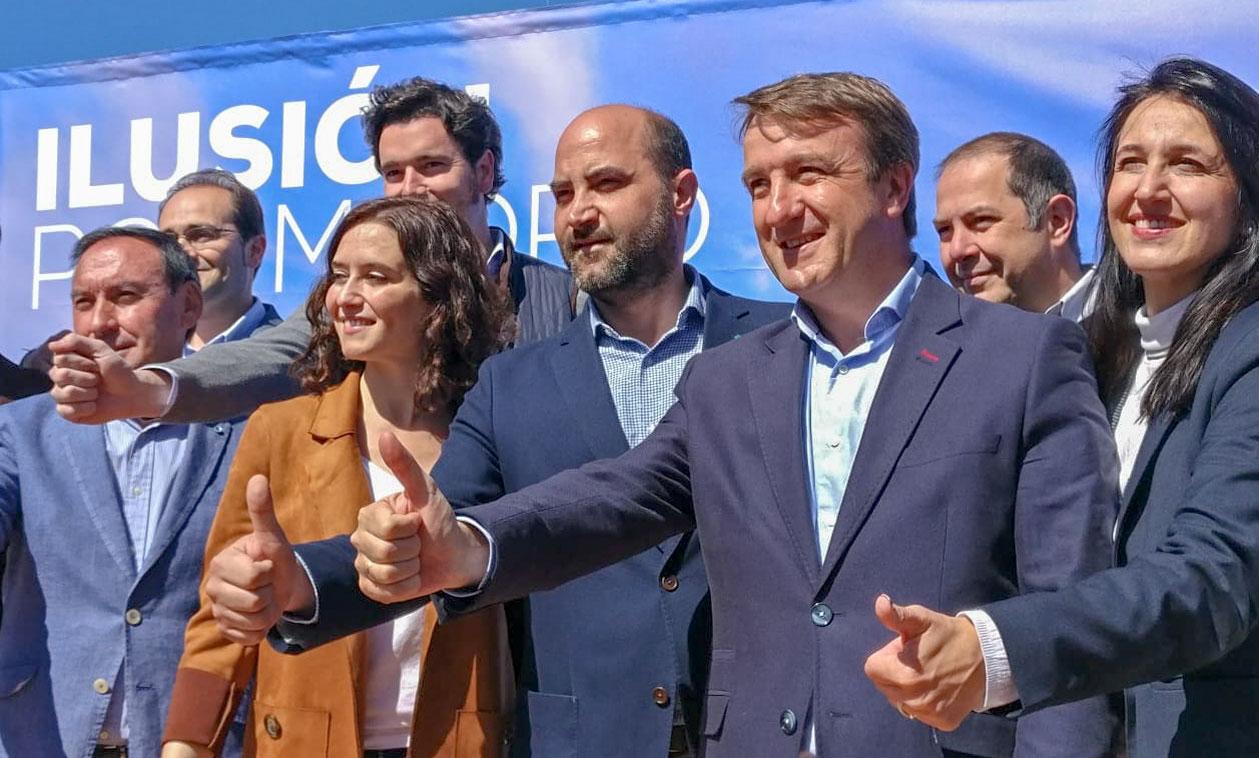 El PP de Tres Cantos acompaña a Isabel Díaz Ayuso en su visita a Manzanares el Real