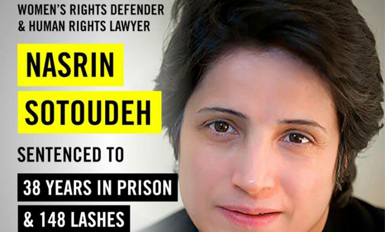 Amnistía Internacional recoge firmas para liberar a Nasrin Sotoudeh