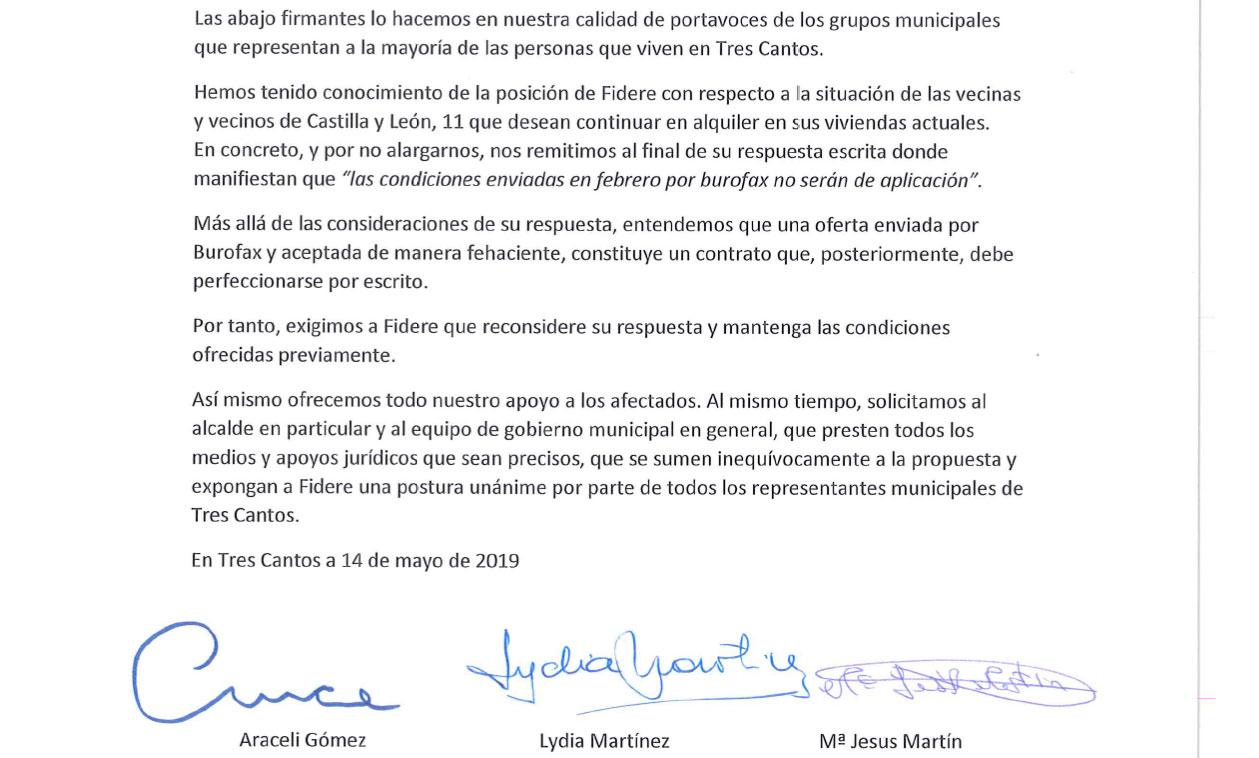 PSOE, Ciudadanos y Ganemos en apoyo a las 1000 viviendas