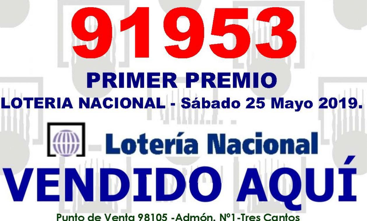 El Primer Premio de la Lotería Nacional se reparte en Tres Cantos