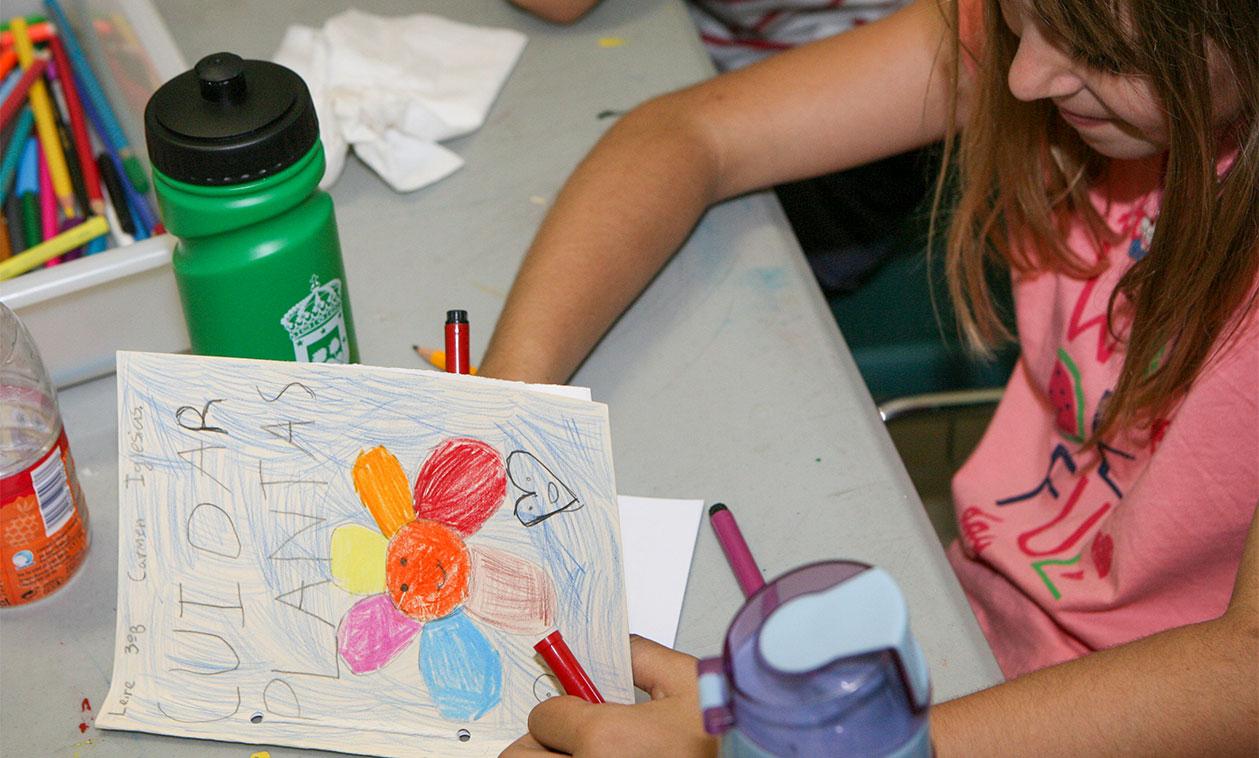 Programa 'La Huerta del Cole' en el Aula de Medio Ambiente Las Vaquerizas