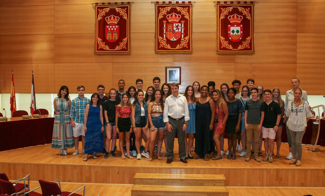 Intercambio internacional de estudiantes Colombia-Tres Cantos