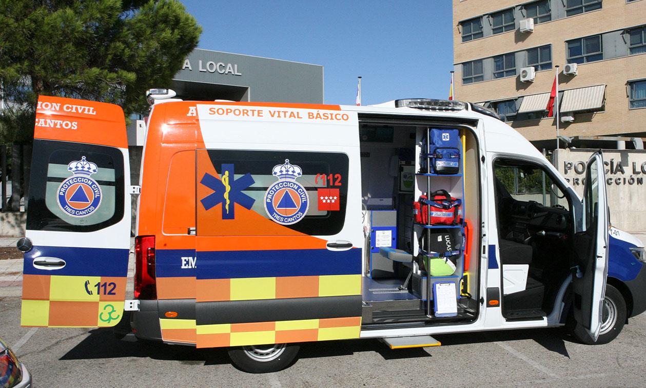 La ambulancia municipal de Tres Cantos cumple su primer año en funcionamiento