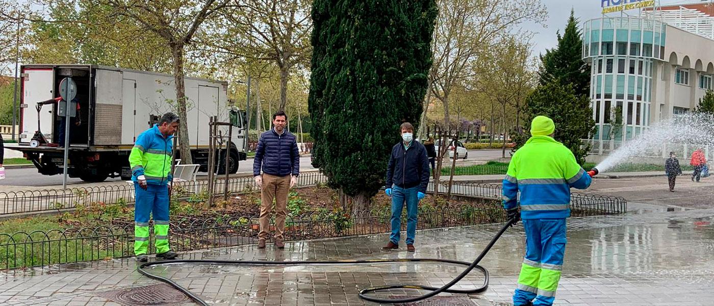 Refuerzo en el servicio de limpieza viaria de la ciudad para evitar la propagación del COVID-19