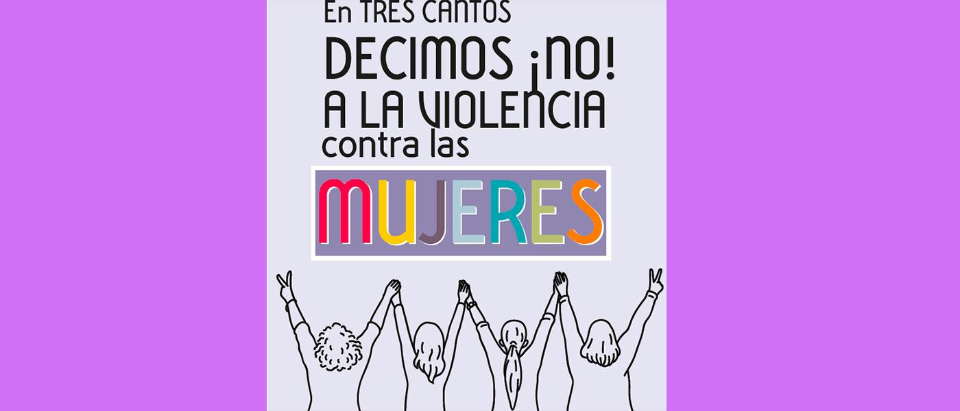 Tres Cantos dice no a la violencia contra las mujeres
