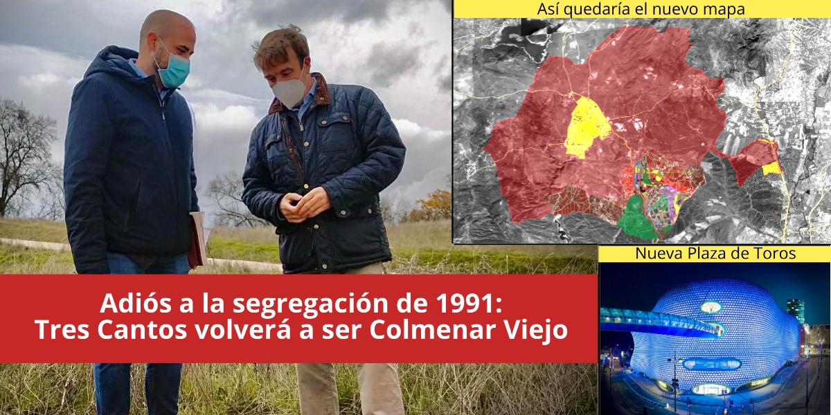 Tres Cantos desaparece como municipio y volverá a formar parte de Colmenar Viejo