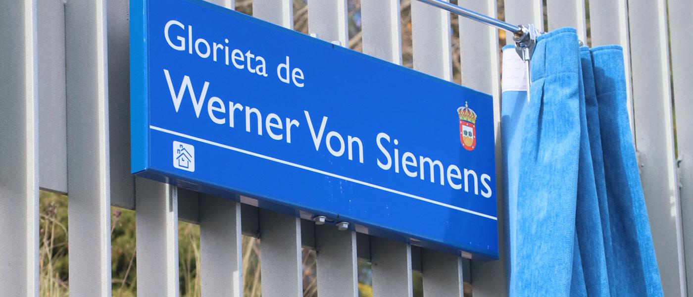 Inauguración de la nueva glorieta Werner Von Siemens
